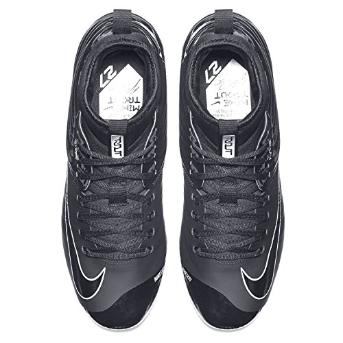 Nike Lunar Trout 2 Scarpe Da Baseball In Metallo Con Spikes Nero Nero Grigio Taglia Uomo 8.5