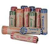 1800 PACK Assorted Coin Preformed Wrappers (1800 WRAPPERS) MADE IN USA (WHOLESALE BULK 50 X 36 WRAPPERS)