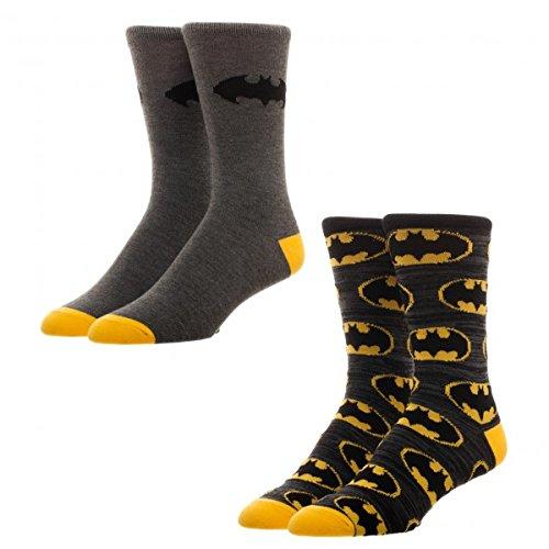 Batman 2 Pack Crew Socks Standard (Batman Sock Women)