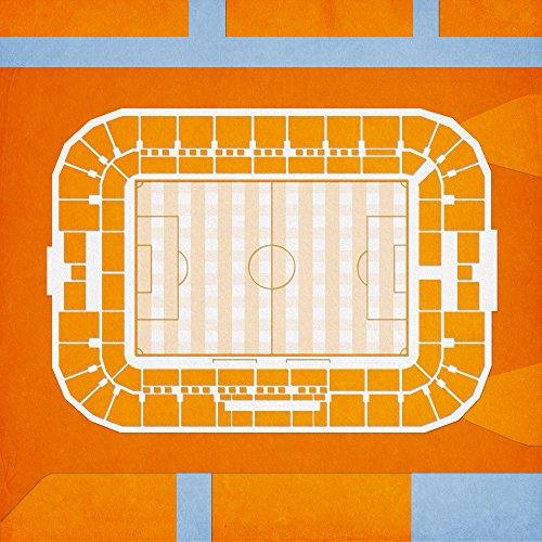 Bbva Compass Stadium Map Art  24  Wood Art Panel