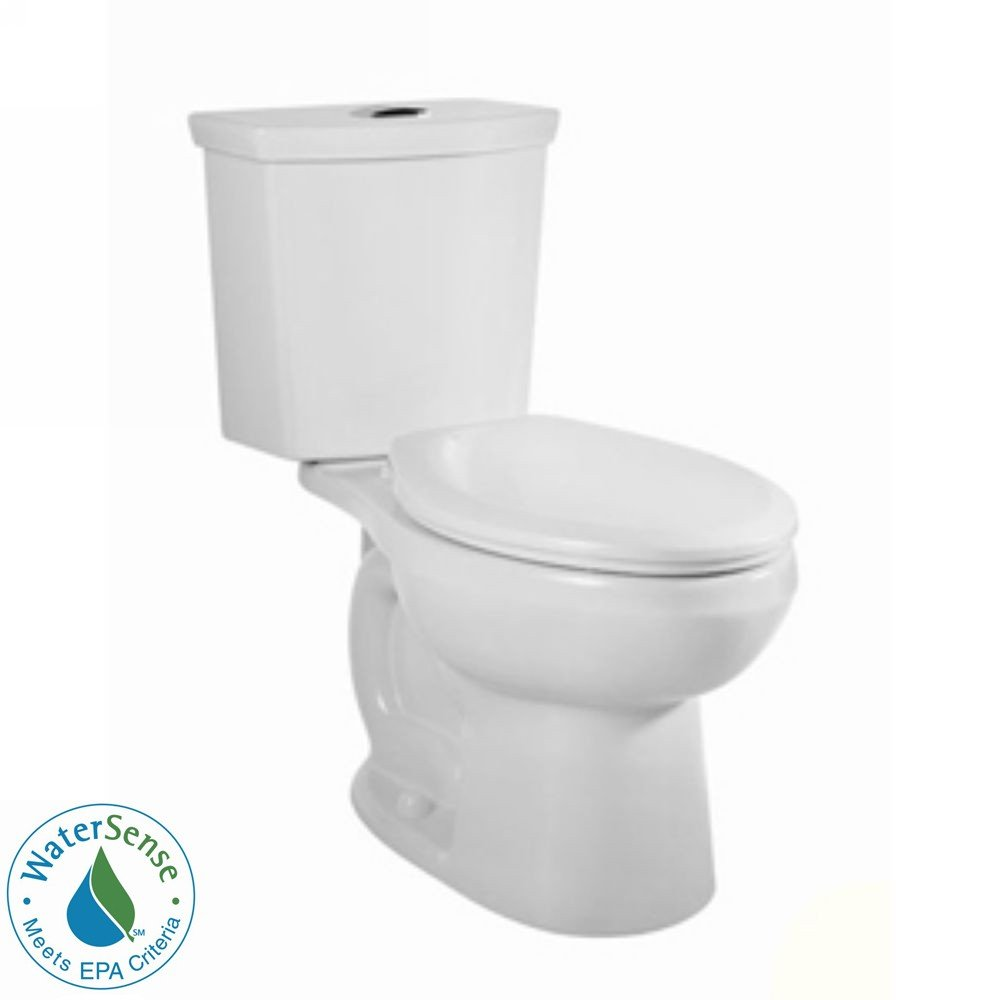 American Standard 2887.216.020 H2Option Siphonic Dual Flush Elongated Two-Piece Toilet, White