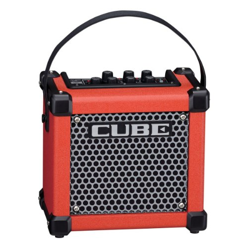 (Roland Micro Cube GX 3W 1x5 Battery Powered Guitar Combo Amp Red)