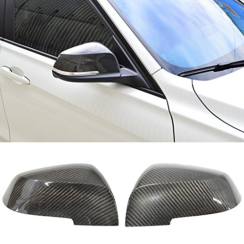 Carbon Fiber Mirror Covers - Fits 2012-2017 BMW 3 Series F30 Side Carbon Fiber CF Passenger Driver Mirror Cover - Other Color Available