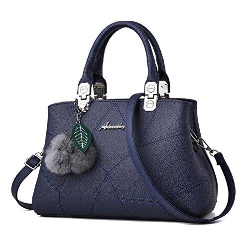 Borsa Borse Spalla a Messaggero Blu Barwell A Leather Sacchetto Donna Borse mano Borsa Tote Tracolla nOw0fXqx