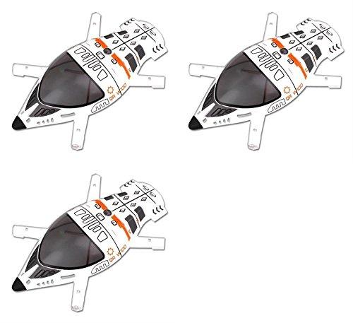 HobbyFlip 3 x Quantity of Walkera QR W100 WiFi Upper Body Cover Part # QR W100-Z-01 Quadcopter Shell - FAST FROM Orlando, Florida USA! by HobbyFlip