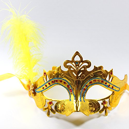 C&L Halloween little fairy masks dance party children 's day performance mask (Gold)