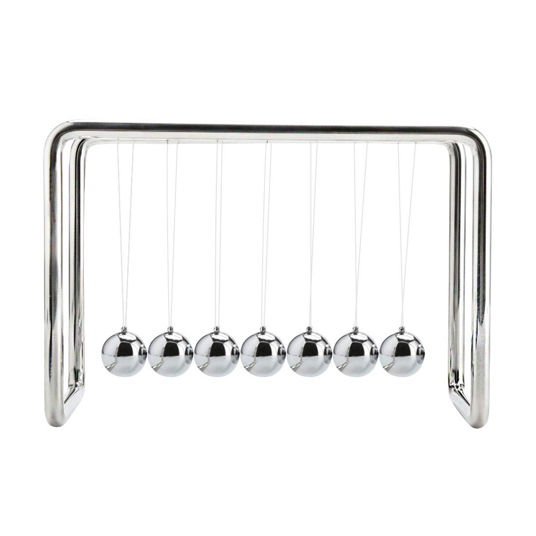 Newtons Cradle Balance Large Balls Science Psychology Puzzle Desk Fun Gadget (7 Ball White) by BOJIN