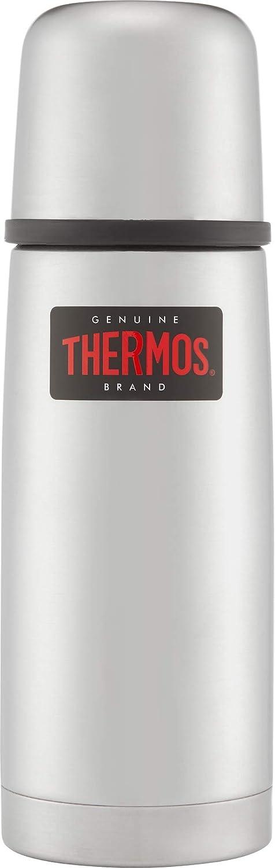12 Stunen hei/ß 24 Stunden kalt THERMOS 4019.218.035 Thermosflasche Light /& Compact Sp/ülmaschinenfest Edelstahl Cool Grey 0,35 l