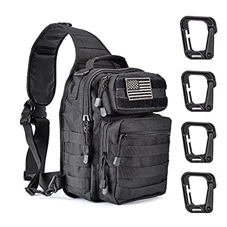6808e2ba7da3 Amazon.com   Weanas Tactical Sling Bag Pack