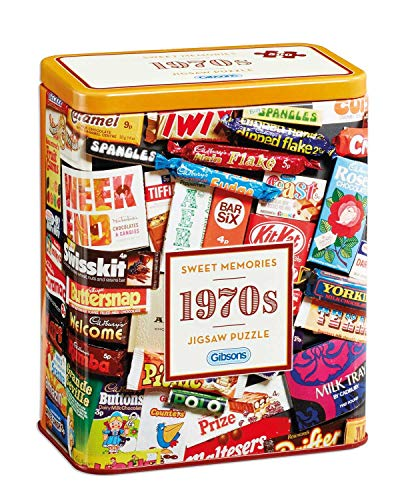 Gibsons 1970s Sweet Memories Jigsaw Puzzle in Gift Tin (500 - 1970s Sweet