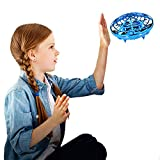 Mini Drone for Kids Flying Ball Toys Hand Controlled Quadcopter Flying Toys for Kids Interactive Infrared Induction RC Helicopter with 360??Rotating and Shinning LED Lights Gifts