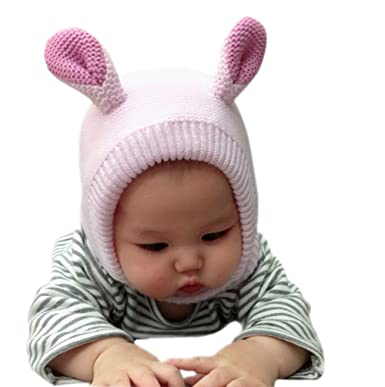 f19b747aa0e78 赤ちゃん 帽子 うさぎ ベビー ぼうし 子供 ニット帽 キッズ キャップ 耳保護 ハット女の子 男の子 無地