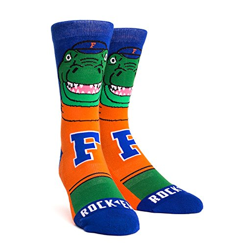 NCAA Florida Gators Albert Mascot Knitted Socks, Large/X-Large, Orange