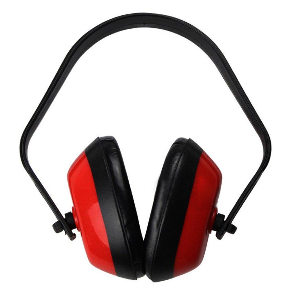 Gemini _ Mall® Casque anti-bruit pour adultes et enfants, confortable de sécurité protection auditive Cache-oreilles avec bandeau pour prise de vue, la construction, la lecture ou la cour travail, rouge Gemini_mall®