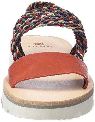 H Shoes Inge, Scarpe Col Tacco con Cinturino a T Donna Rosso (Rosso (Rosso))