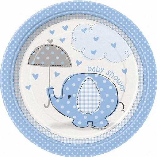 Boy Cake Plates (Blue Elephant Baby Shower 7
