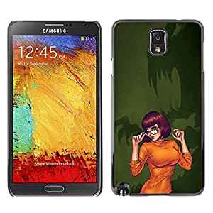 FlareStar Colour Printing Sexy Orange Halloween Character Cartoon cáscara Funda Case Caso de plástico para SAMSUNG Galaxy Note 3 III / N9000 / N9005