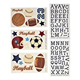 NoJo Play Ball, Wall Decals, Navy/Red/Indigo/Ivory/Brown