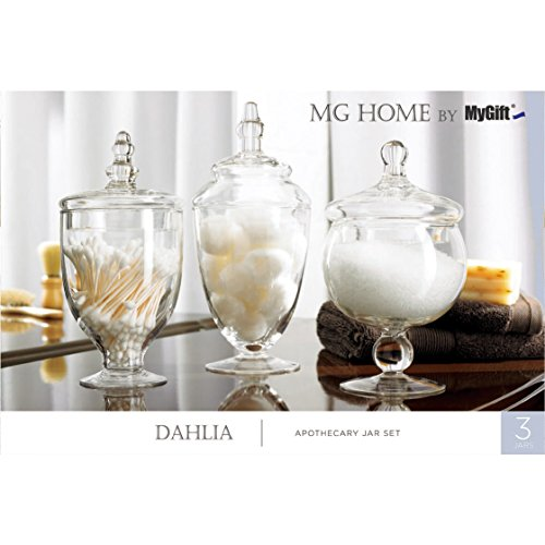 Mygift clear glass apothecary jars wedding centerpiece