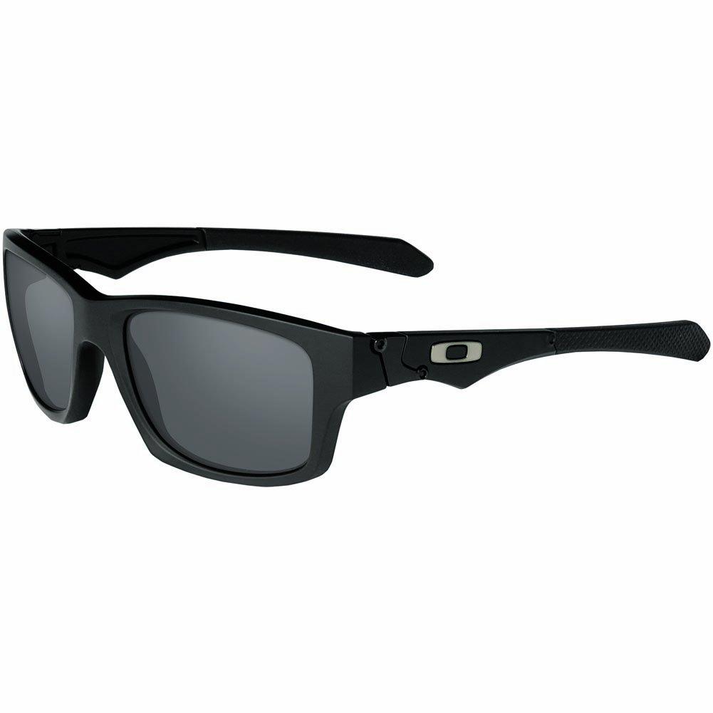 Oakley Men's OO9135 Jupiter Squared Rectangular Sunglasses, Matte Black/Grey, 56 mm by Oakley