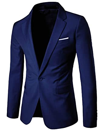 Yanlian Chaqueta de Traje para Hombre Chaquetas para Hombre de Vestir Blazer Hombre Casual Chaqueta de Abrigo Tops 9 Colores 9 Sizes