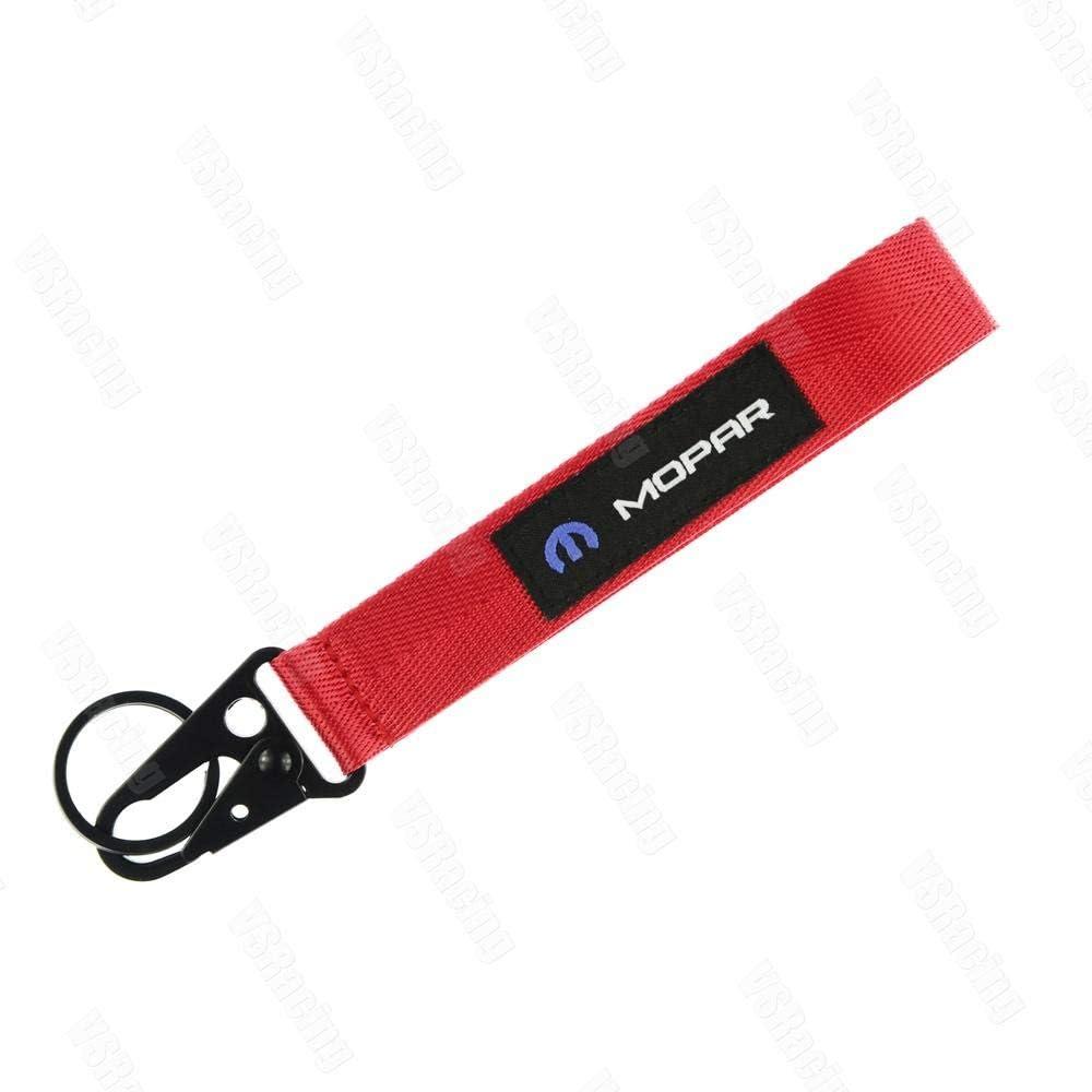 JDM Style for Mopar Cellphone Lanyard Racing Car Keychain ID Card Neck Strap for Chrysler Dodge Fiat Jeep Ram Cars Black