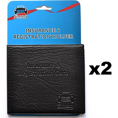 2 Black AUTO CAR TRUCK INSURANCE REGISTRATION CARD HOLDER WALLET 5.25
