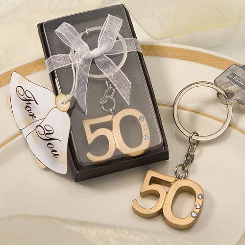 Bright Dog Inspiration 50th Anniversary Bundle Metal Anniversary Frame and Commemorative Keychain