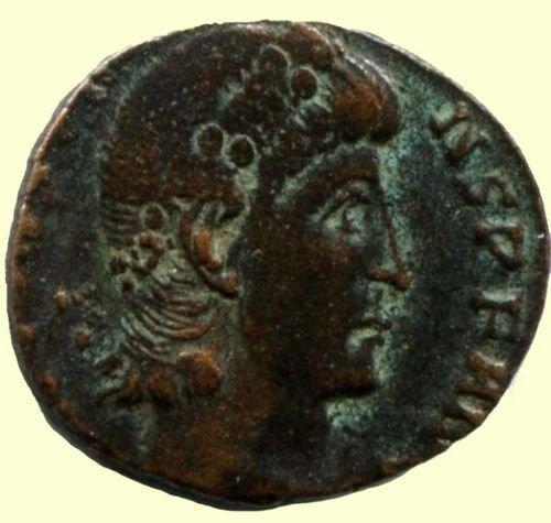 Roman coin, Ihnasyah Hoard, Constans, Nicomedia, 11777