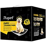 "Thxpet Pet Puppy Pads Black Activated Carbon 22"" by 23"" Wee Wee Dog Pee Potty Training Pad Bamboo Charcoal 80 Count"