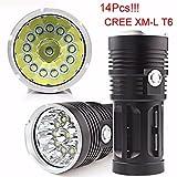ZYooh XML T6 LED Flashlight, High power 34000 LM CREE Flashlight Torch Lamp 3 Modes 4X18650 (14X)