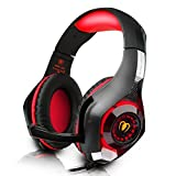 Cheap DIZA100 PS4 Gaming Headset with Microphone for PlayStation 4, Xbox one,PC-Red