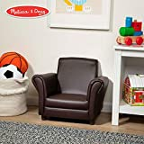 (US) Melissa & Doug Child's Armchair, Coffee Faux Leather (Children's Furniture, Armchair for Kids, Sturdy Construction, 18.3