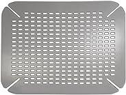 InterDesign Basic Protector de fregadero, alfombrilla de plástico PVC para fregaderos de cocina, salvaplatos p