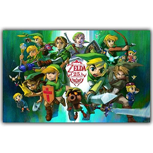Eleonora la Leyenda del Juego de Zelda, Pintura sobre Lienzo ...