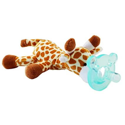 mxdmai Juguetes de los niños de los Animales con los pezones de Silicona bebé Chupetes soothie Soporte con Juguetes de Peluche - Estilo al Azar