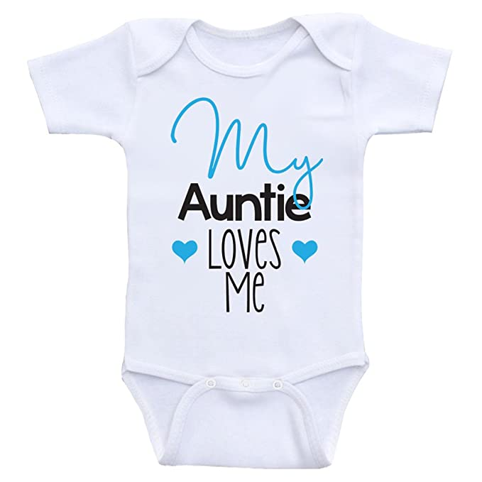 7c362e348 Amazon.com  Cute Newborn Baby Clothes My Auntie Loves Me Onesies for ...