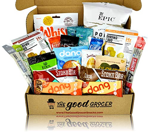 (KETO Friendly Snacks Gift Care Package (20ct): Ultra Low Carb, High Fat, Ketogenic, Gluten Free, No Added Sugar, Healthy Fats, Low Glycemic Healthy Gift Box, Gift Basket Alternative, Variety Pack)