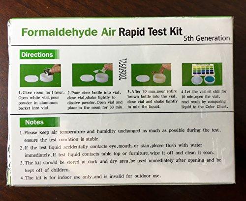 Formaldehyde Air Rapid Test Kit, 5th Generation, DIY Testing Indoor Air, North America Edition