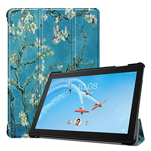 [Auto Sleep/Wake] Smart Case for Lenovo Tab P10 TB X-705 10.1 inch, Renzhe PU Leather Lightweight Cover for Lenovo Tab P10(Starry Outspace)