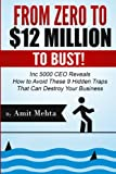 From Zero to $12 Million to Bust!: Inc 5000 CEO Reveals How to Avoid These 9 Hidden Traps that can Destroy Your Business