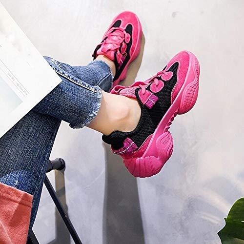 Piel nsxiezi Roja En Rosa Mujer Calzado Casual De Xl Bxg1pwq