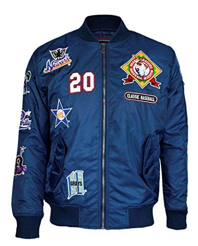Negro League Baseball Jackets - NLBM Mens Bomber Jacket 3XL Navy Blue