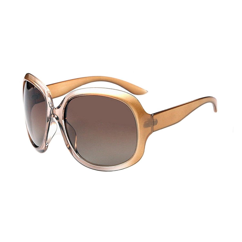 Champagne Retro Large Oversized Womens Designer Polarized Sunglasses FASHION EYEWEAR