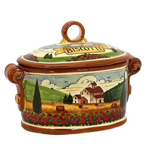 - PAESAGGIO TOSCANA: Oval Biscotti Canister Jar [#P45P-PAE]