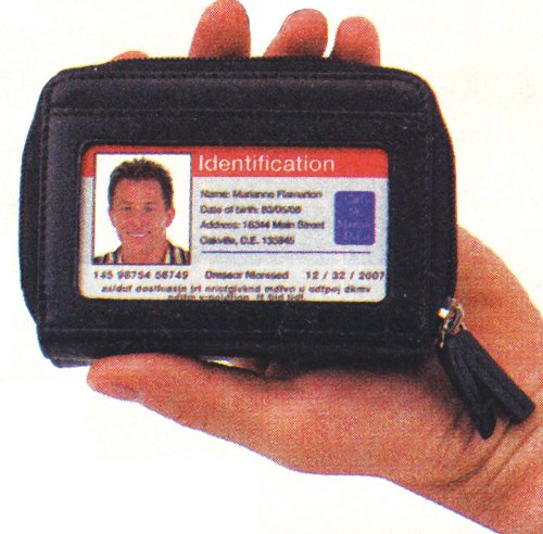 LEATHER ID WALLET, Bags Central