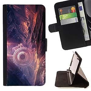 Momo Phone Case / Flip Funda de Cuero Case Cover - Sci Fi de la nave;;;;;;;; - LG G3