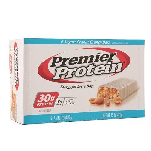 Premier Protein 30g Protein Bars, Yogurt Peanut Crunch 6 each - 2 PACK