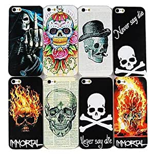LCJ Skull Pattern Hard Cases for iPhone 5/5S(Assorted Color) , 5#