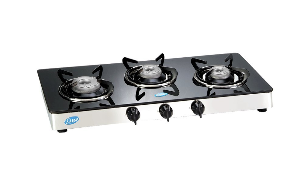 Glen Stainless Steel 3 Burner Cooktop, Black (GL 1033 GT)